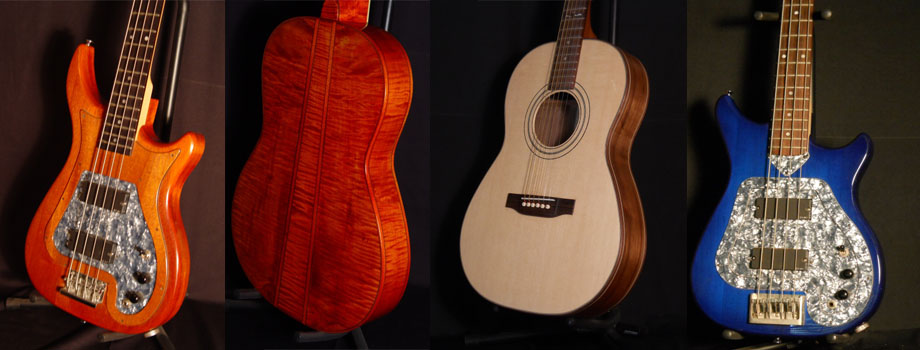 Custom acoustic guitar design and building, featuring Rick's new small and light guitars with a big sound.